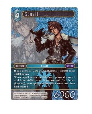 Final Fantasy OPUS TCG Trading Card - 1-042R - Squall- RARE FOIL