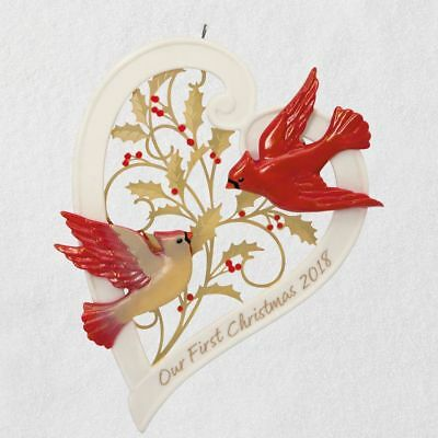 2018 Hallmark Our First Christmas Together Heart 2018 Porcelain Ornament