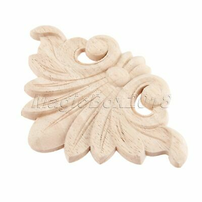 Unpainted Decal Carved Applique Woodcarving Cabinet Wardrobe  Onlay Decor Craft