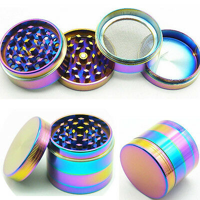 Tobacco Herb Spice Grinder 4 Piece Herbal Alloy Smoke Metal Chromium Crusher NN