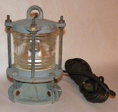 Antique Masthead Marine Clear Light Fixture, Brass, 14 Pounds, Unused, S S 4335.