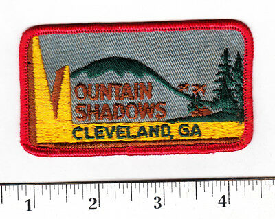 Cleveland, Georgia... Indian Shadows Embroidered Patch..Scarce....#130t