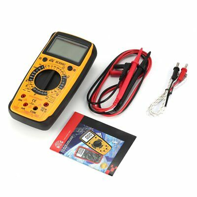 HC890C Digital Multimeter AC/DC Volt Amp Ohm Temperature Diode hFE Tester YY