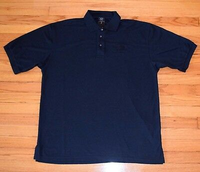 Hard Rock Cafe Hollywood Polo Shirt Men's Size XL, Black Embroidered NWT $34