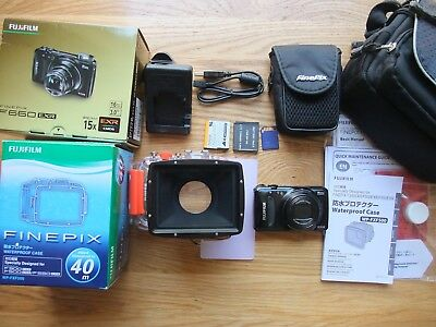 FujiFilm FinePix F660EXR 16MP Camera & WP-FXF500 Underwater Housing Dive Bundle