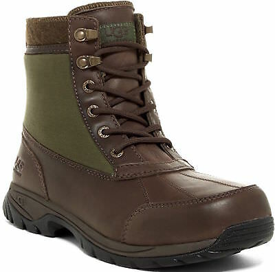 46ee94836b1 UGG Mens Size 12 Eaglin Waterproof Brown Leather Snow Winter Boots 1003350  Stout