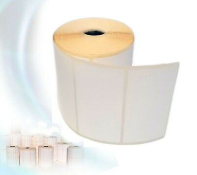 Blank White Self Adhesive Sticky Labels rolls 100X50mm