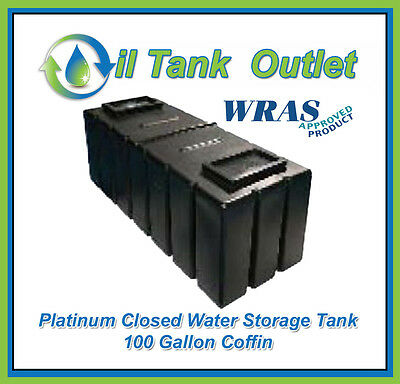 Closed  Water Storage Tank 100 Gallon Coffin  - WRAS Approved