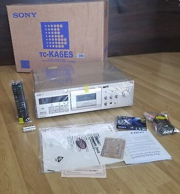 New! Golden ! Sony Tc-Ka6Es Tape Cassette Deck W Remote Control Metal Dolby-S