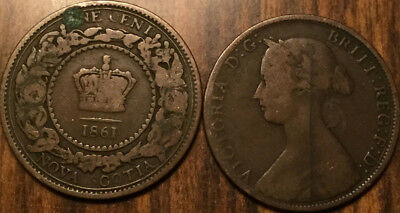 1861 Nova Scotia Large 1 Cent Coin Penny G+ Buy 1 Or More Its Free Shipping!