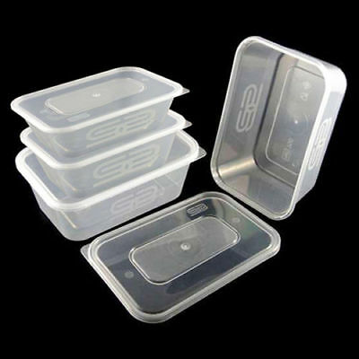 650ml Satco Heavy Duty Food Container With Lid Microwave Take Away Storage