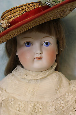 23 Inch Antique German Bisque Solid Dome Doll is an ABG c.1890 Closed Mouth