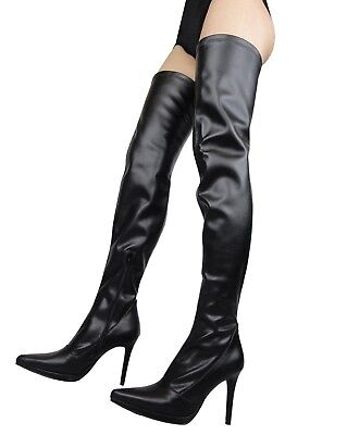 GIOHEL PLATFORM OVERKNEE New Boots Stiefel Boots Stretch
