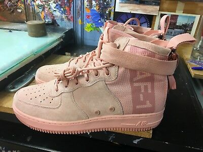separation shoes bf84d d15f5 Nike SF AF1 Mid Air Force 1 Suede Coral Stardust Size US 9 Men s AJ9502 600