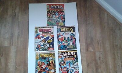 The Avengers B/W Marvel Comics  British Issue 10, 11, 12, 15 and 24