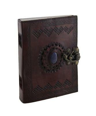 120 Leaf Sketch Book Paper Sheets Art Drawing Notebook Leather Stone Journal