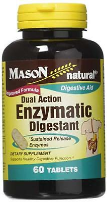 Dual Action Enzymatic Digestant with Pepsin and Papain 60 Tablets by Mason Vit