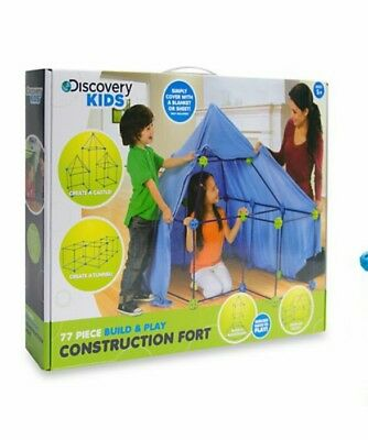 Discovery Kids Construction Fort 72 Piece Build Play Create