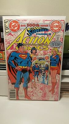Action Comics #500.      (Vf- Vf)   ~Infinity Cover~   Anniversay Issue!   1979