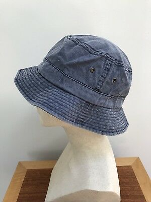 a905ef450a1 Dorfman Pacific Cotton Stone Washed CHAMBRAY BLUE Summer Bucket Hat - L  XL