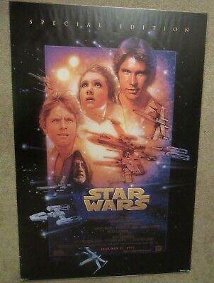 """1st Print Star Wars A New Hope Special Edition (1997) Movie Poster 27""""x40"""" Ver B"""