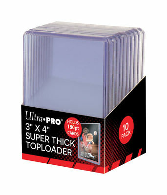 Ultra Pro Clear Thick 180pt TOPLOADERS x 10 Rigid Card Protector TOPLOADER 3x4