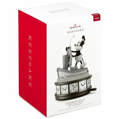 Hallmark 2018 Disney Mickey Mouse Steamboat Willie 90th Ornament