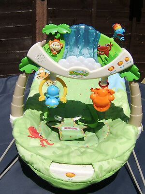 Fisher Price Rainforest Vibrating Bouncing Chair with lights and sound