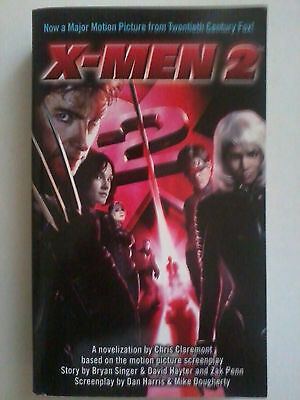 X-MEN 2 / X2 movie novelization by Chris Claremont pbk (UNREAD) *RARE*
