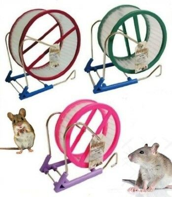 Delux Small Animal Exercise Jogging Running Play Wheel Hamsters Degus Rats Mice