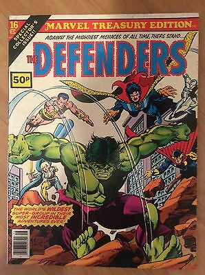 Marvel Treasury Edition No. 16 The Defenders Hulk Dr Strange - Rare UK Edition