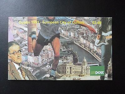 Ireland Stamp Prestige Booklet 1991 Dublin European City of Culture James Joyce
