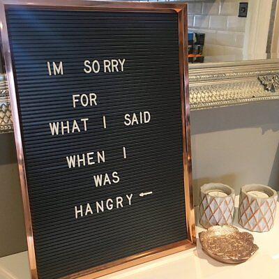 retro style letter board copper sliver frame wedding party engagement 45x30cm