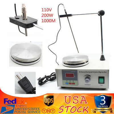 85-2 PRO Magnetic Stirrer Mixer Stirring Laboratory 1000ml with Hot Plate US