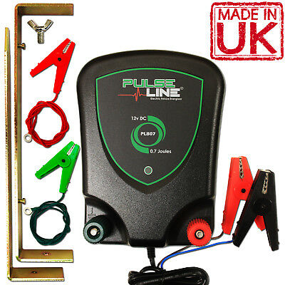 ELECTRIC FENCE 12v ENERGISER FENCER BATTERY POWER 0.7J (2 YEAR WARRANTY!)