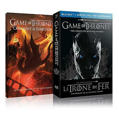Game Of Thrones Seventh Season Blu-ray + Digital + Conquest  Rebellion Bilingual