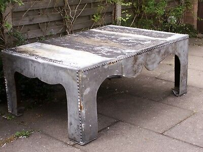 HUGE GALVANISED INDUSTRIAL TABLE -- collect Southport