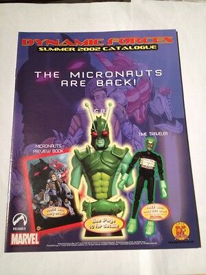Dynamic Forces Summer 2002 Catalogue Magazine , Micronauts Cover