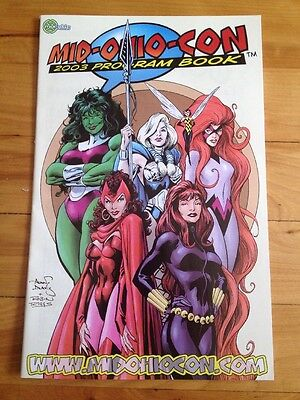 mid-ohio-con 2003 program book , she-hulk, wasp, scarlet witch , black widow,