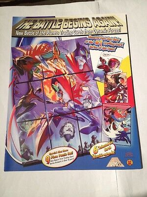 Dynamic Forces 2002 Promo Sell Sheet , Battle Of The Planets And Busts/Statues