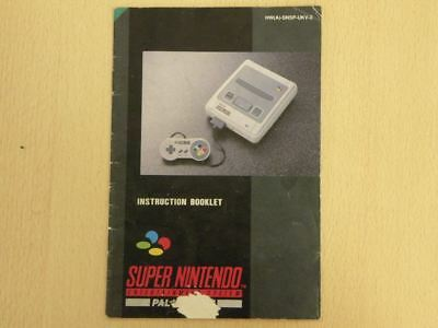 Super Nintendo SNES Console Manual CONSOLE INSTRUCTION BOOKLET Manual ONLY 26359