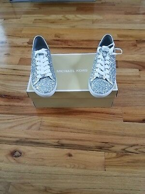 Michael Kors silver/rhinestone shoes for women