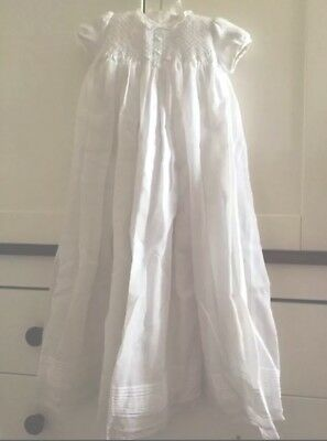 BNWT 'Sarah Louise' Designer  Christening/Baptism Gown With Hat Age 3 Months