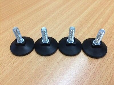 Base 25mm M8x25mm Threaded Levelling Feet Load Rating 100kg Pack of 12