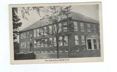 NH Enfield New Hampshire antique post card New High School View