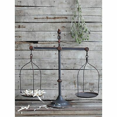 Weathered Scale Balance Metal Rustic Iron Country Chic Farm Cottage Decoration