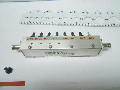 A-2177A Variable  Bnc Attenuator 108-112 Mhz  50 Ohms 0-101 Db   New Old Stock