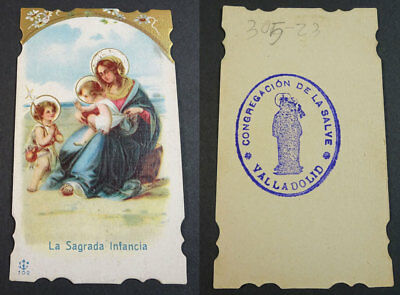 Old Blessed The Sacred Childhood Holy Card Andachtsbild Santini Santino   Cc2176