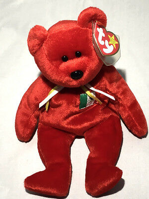 TY  BEANIE BABY -- 1999 'OSITO' MEXICAN BEAR *with tag protector!* NOS