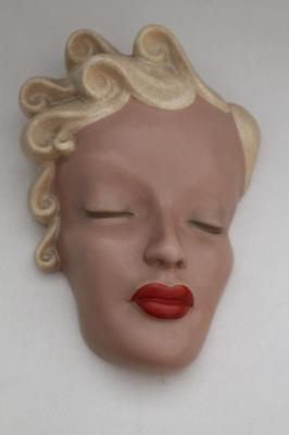Stunning Art Deco Face Wall Mask